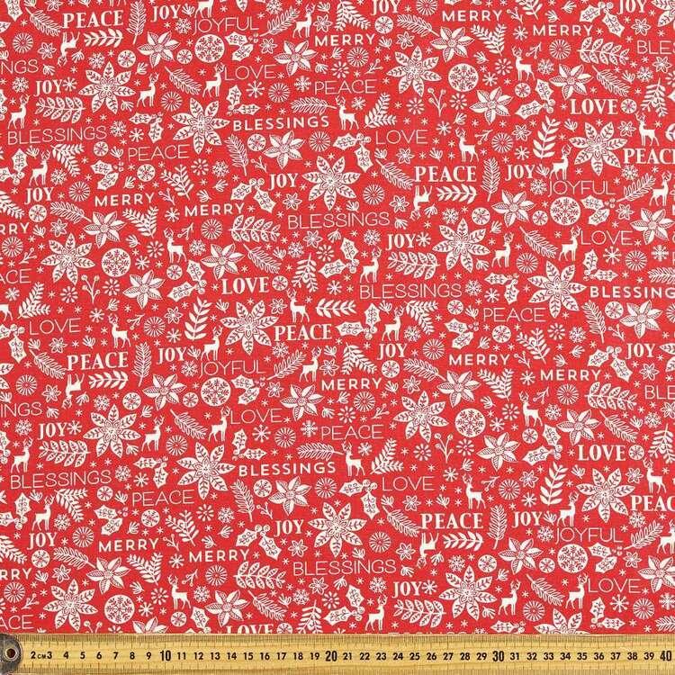 Scandi Christmas Peace Printed 112 cm Cotton Fabric