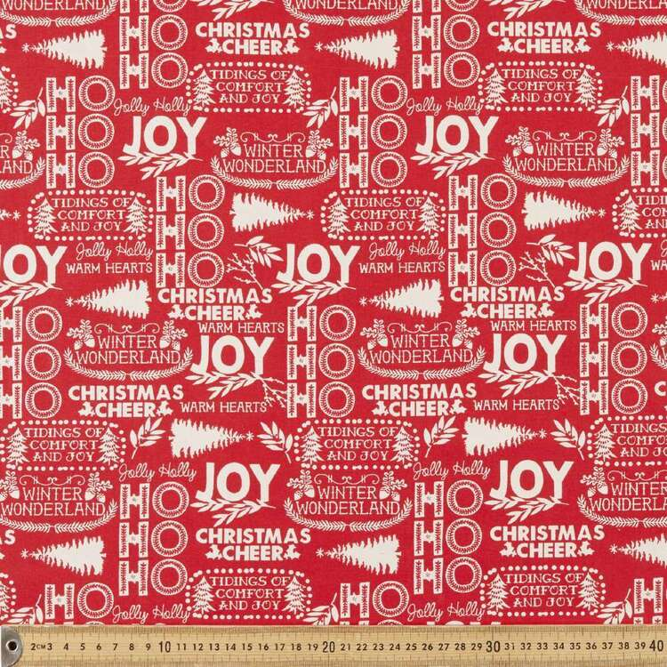 Scandi Christmas Winter Wonderland Printed 112 cm Cotton Fabric