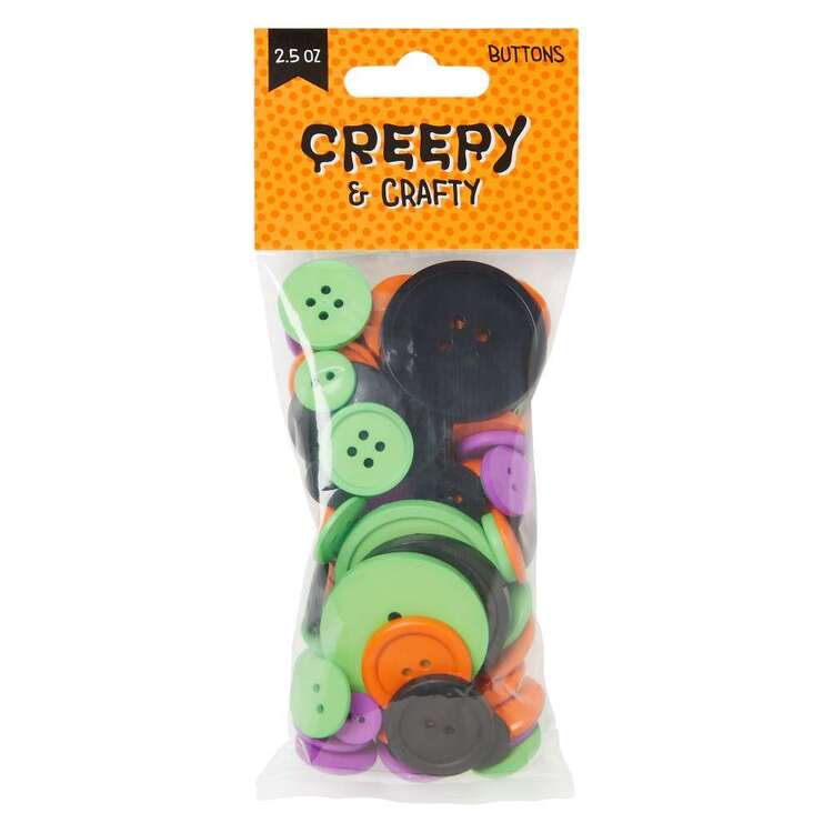 Bright Halloween Mix Buttons