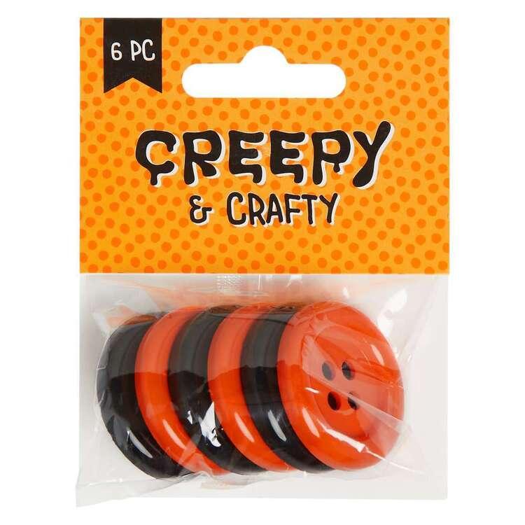 Big Halloween Buttons 6 Pack
