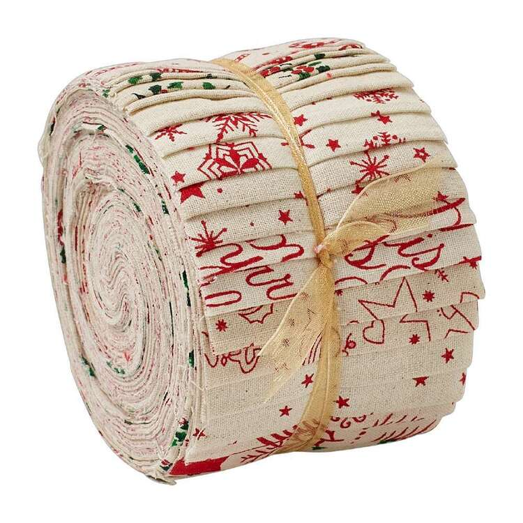 Scandi Christmas Jelly Roll 20 Pieces