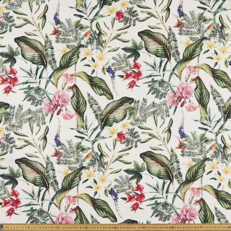 Hawaiian Tropical 150 cm Cotton Slub Fabric