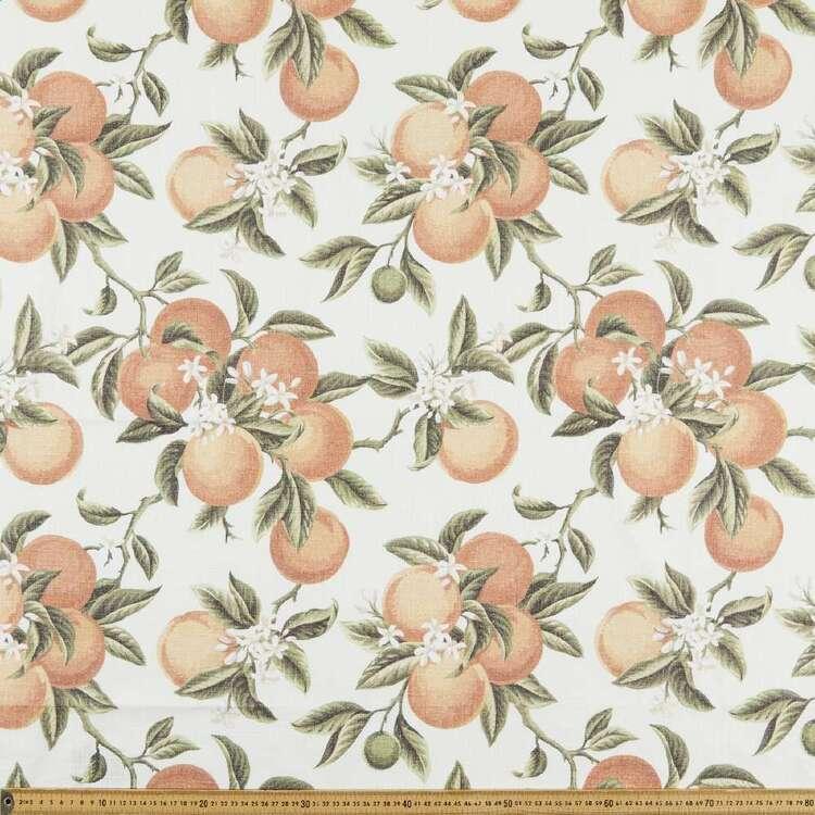 Vintage Orange 150 cm Cotton Slub Fabric