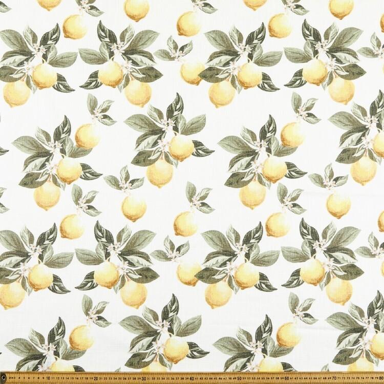 Vintage Lemon 150 cm Cotton Slub Fabric