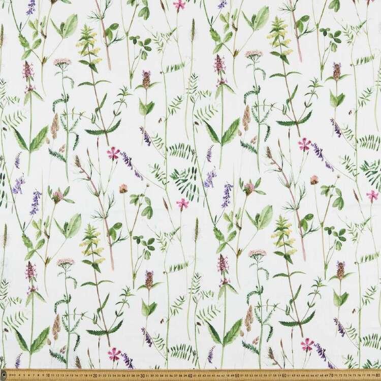 Botanical 150 cm Cotton Slub Fabric