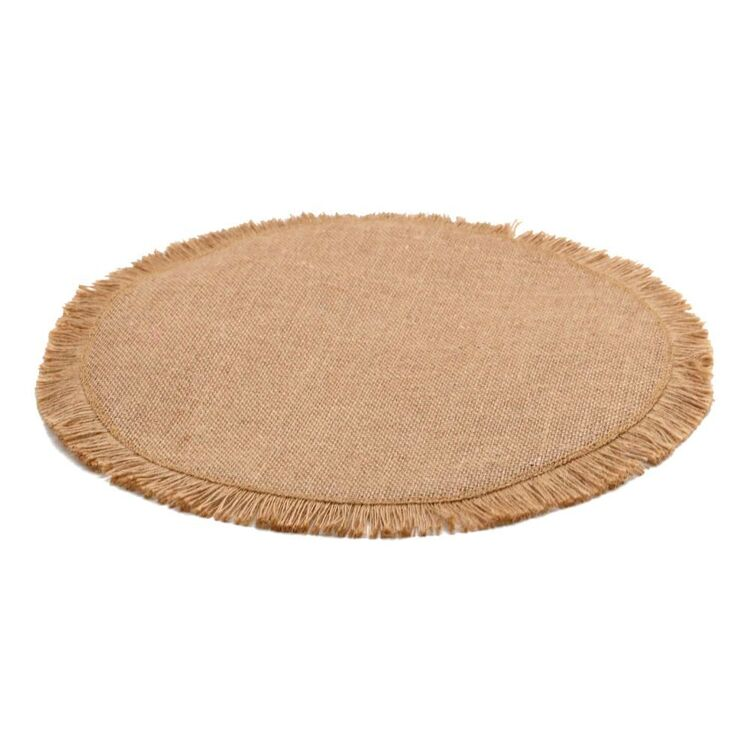 Ombre Home Country Living Round Linen Placemat