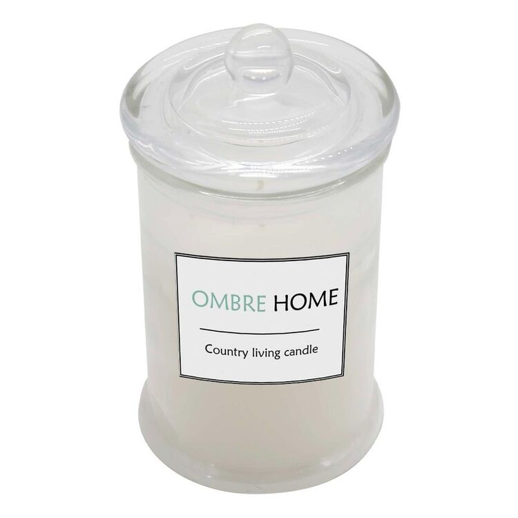 Ombre Home Country Living 15 cm Glass Jar Candle
