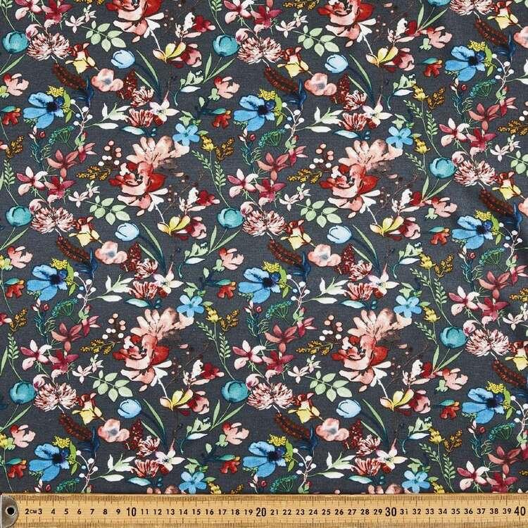 Floral Love Printed 148 cm Bamboo Elastane Fabric