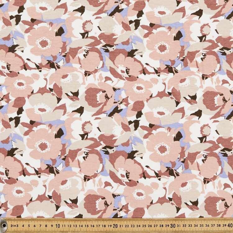 Poppies Printed 148 cm Cotton Elastane Fabric