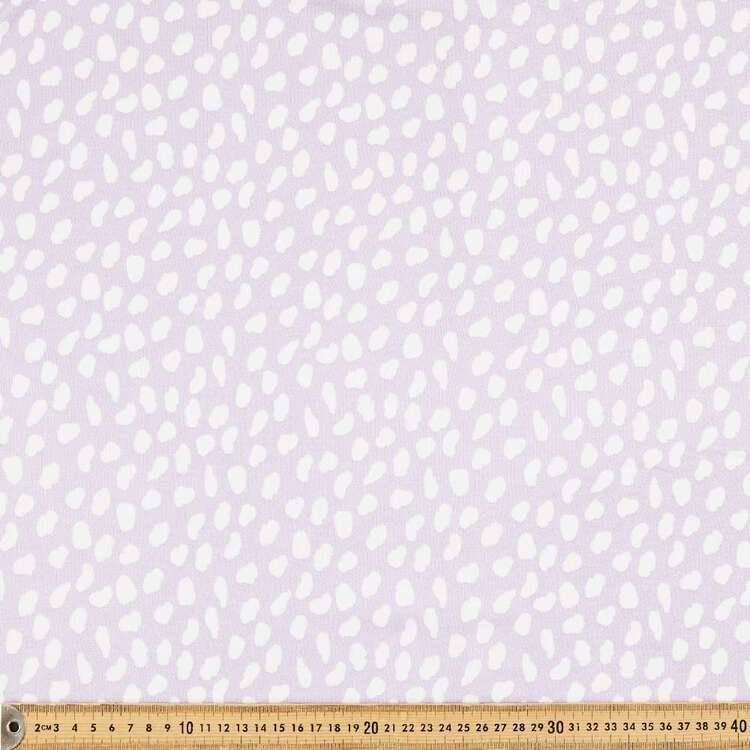 Abstract Spot Printed 148 cm Cotton Rayon French Terry Fleece Fabric