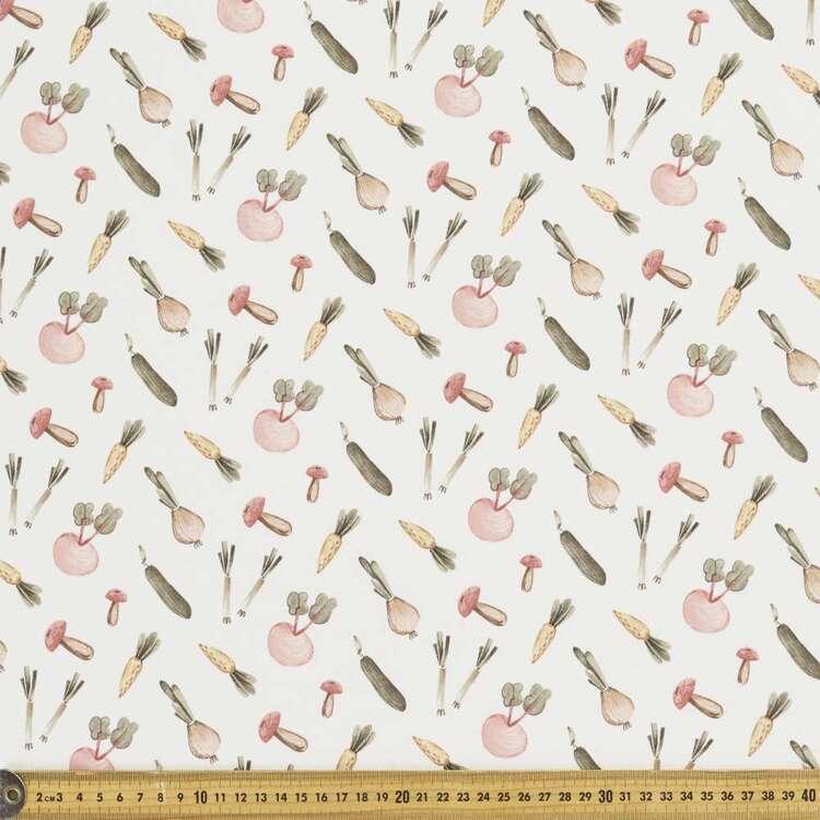 Vege Patch Printed 112 cm Organic Cotton Jersey Fabric