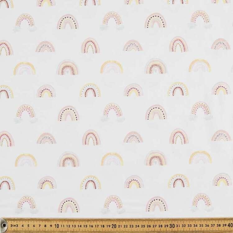 Rainbows Printed 112 cm Organic Cotton Jersey Fabric