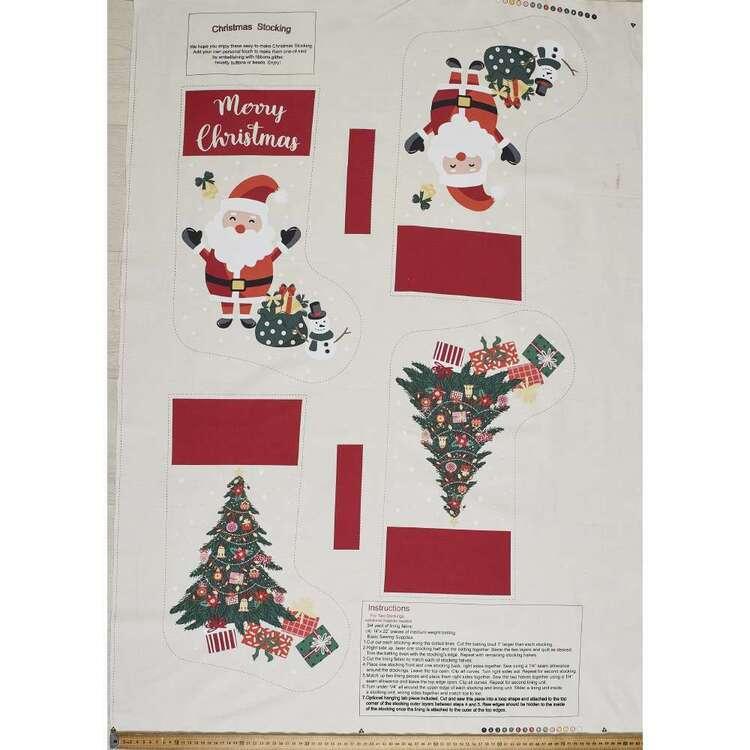 Scandi Christmas Stocking 112 cm Cotton Panel