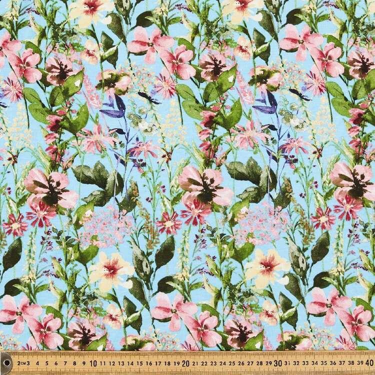 Floral Summer Printed 148 cm Bamboo Elastane Fabric