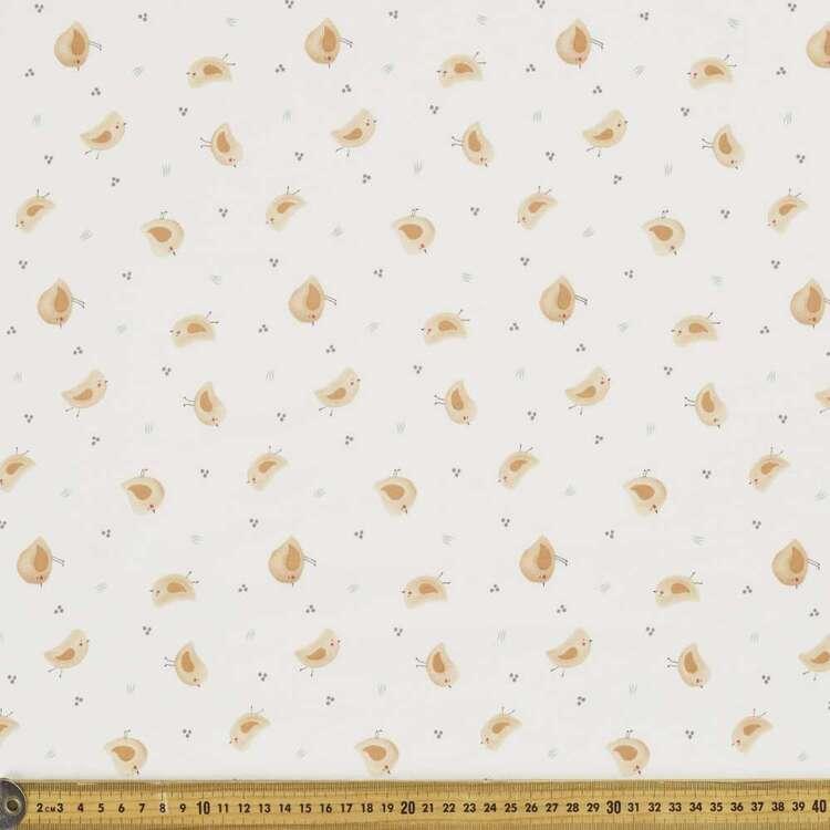 Little Chicks Printed 112 cm Organic Cotton Jersey Fabric