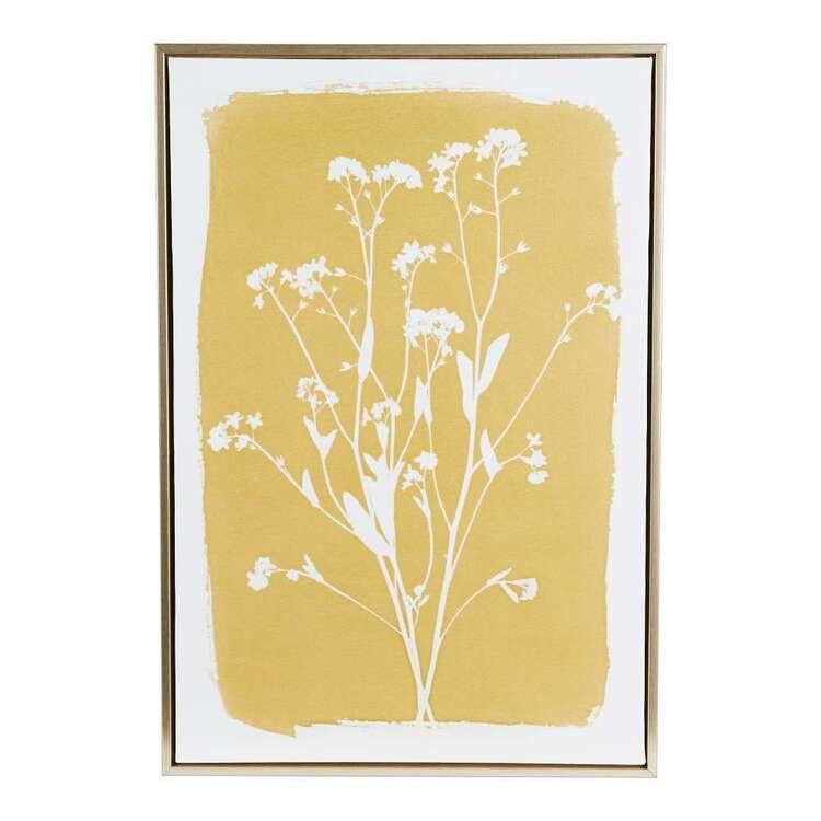Light Botanical #1 Framed Canvas Print
