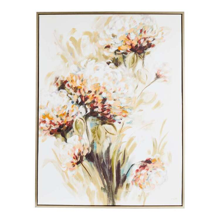 Fall Wildflowers Framed Canvas