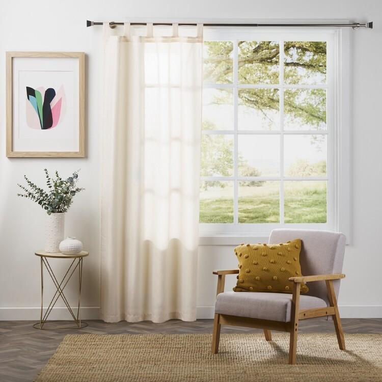 Brampton House Mia Jacquard Sheer Tab Top Curtain