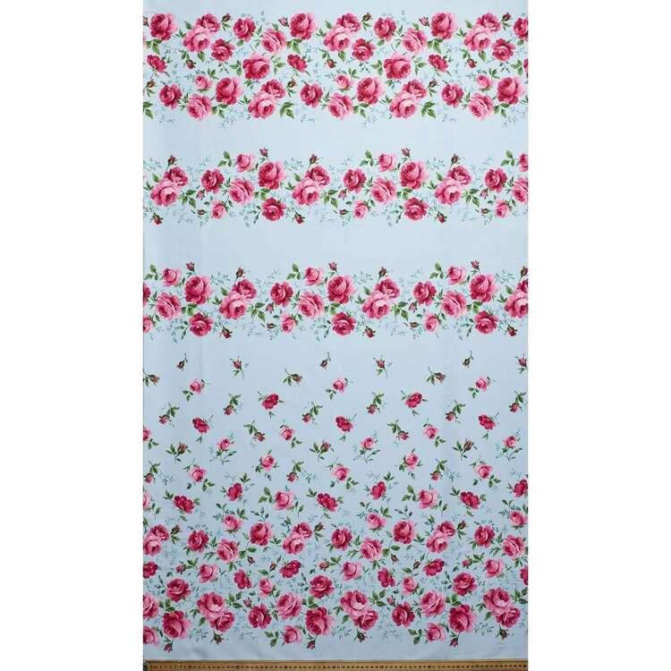 Gertie Wandering Rose Printed 148 cm Stretch Sateen Fabric