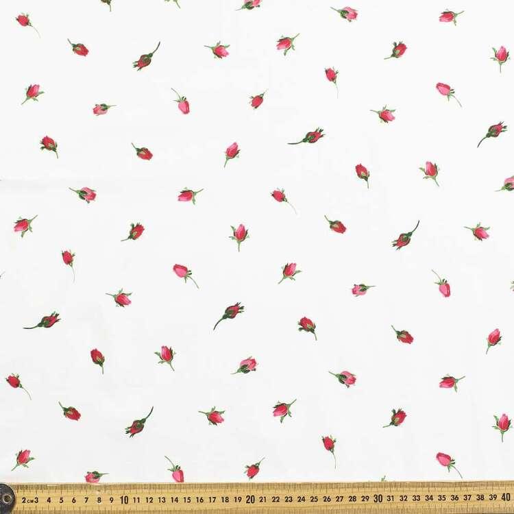 Gertie Rosebud Printed 148 cm Stretch Poplin Fabric