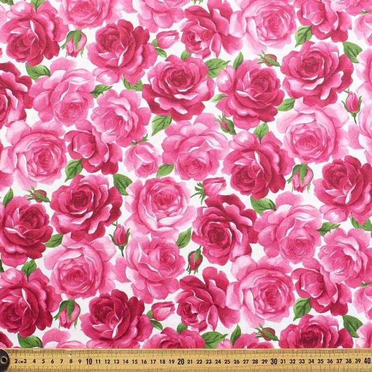 Gertie Rose Garden Printed 148 cm Stretch Poplin Fabric