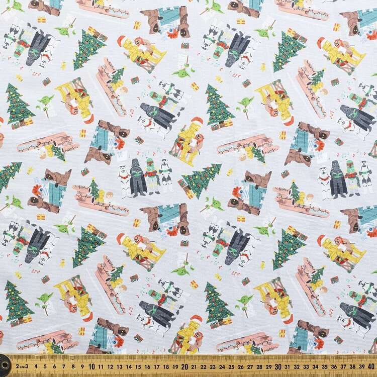 Disney Star Wars Seasons Greeting Cotton Fabric