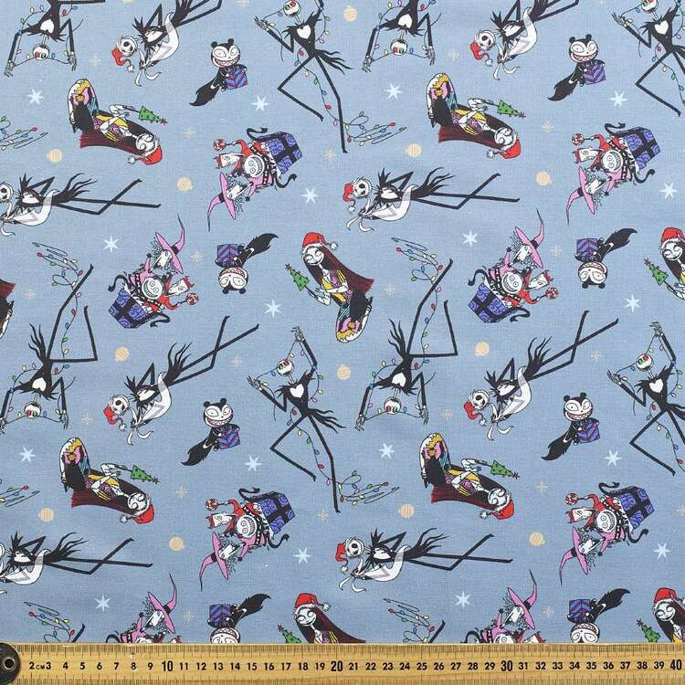 Nightmare Before Christmas Characters Allover Cotton Fabric