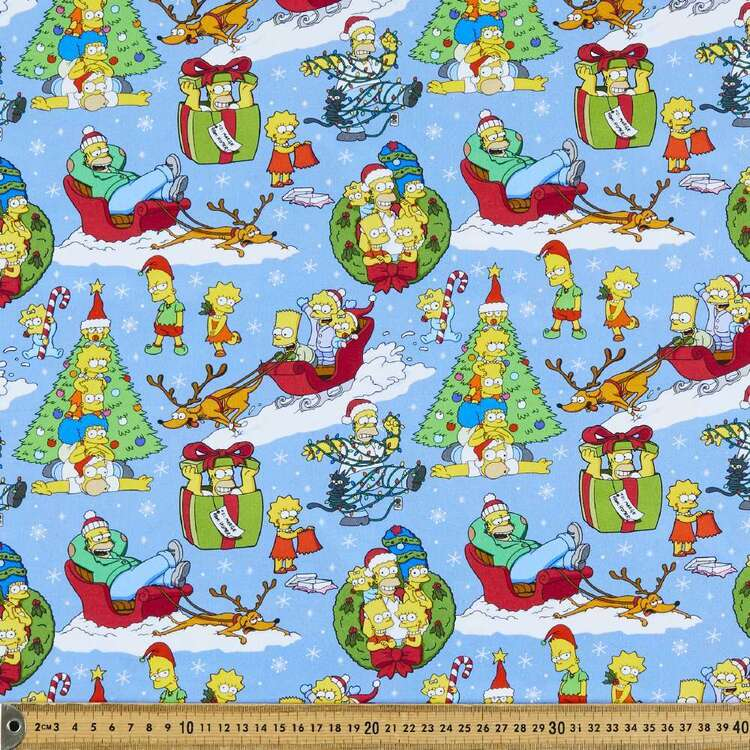 The Simpsons D'Oh Ho Ho Cotton Fabric