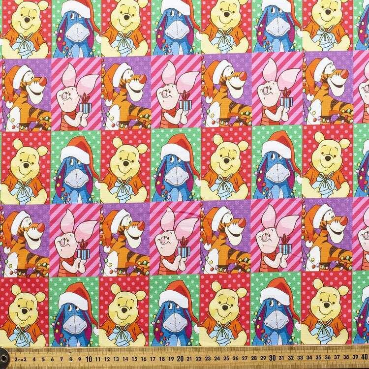 Disney Winnie The Pooh Christmas Portraits Cotton Fabric