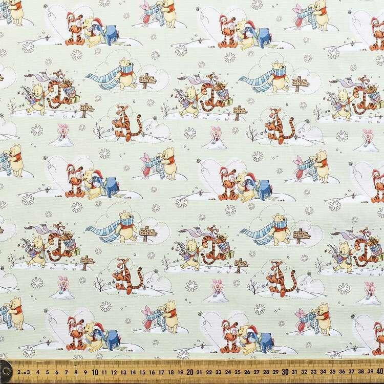 Disney Winnie The Pooh Christmas Wishes Cotton Fabric