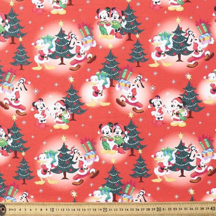 Disney Mickey Mouse Mickey & Minnie Christmas Cheer Cotton Fabric