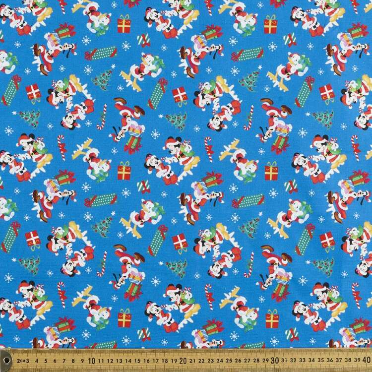 Disney Mickey Mouse Mickey Christmas Friends Cotton Fabric