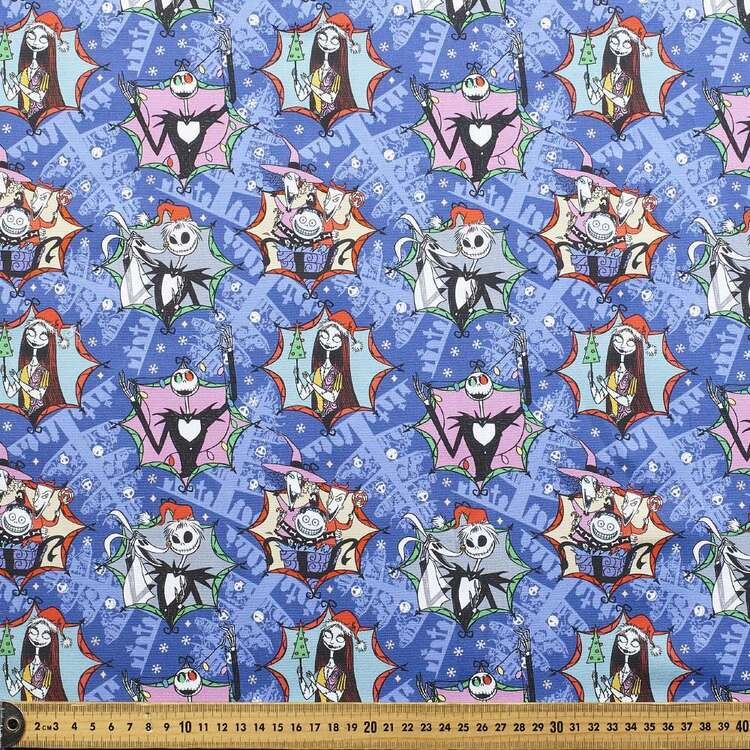Nightmare Before Christmas Holiday Allover Cotton Fabric