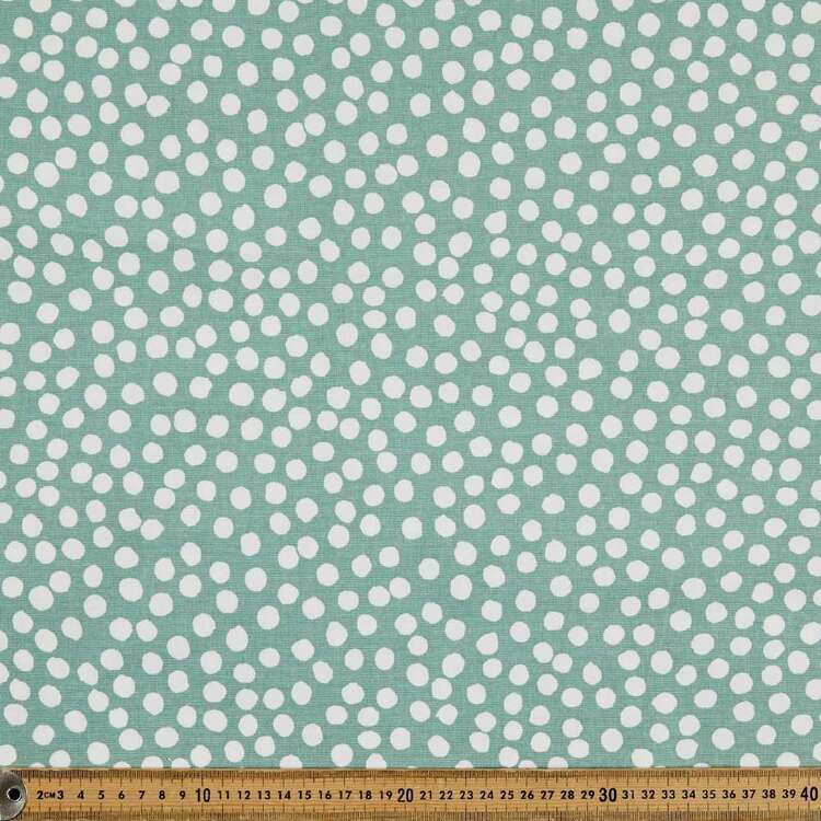 Dots Printed 112 cm Cotton Buzoku Duck Fabric