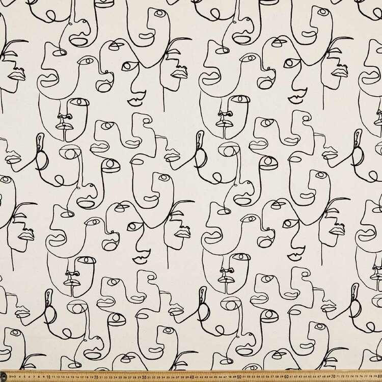 Faces Printed 112 cm Cotton Buzoku Duck Fabric