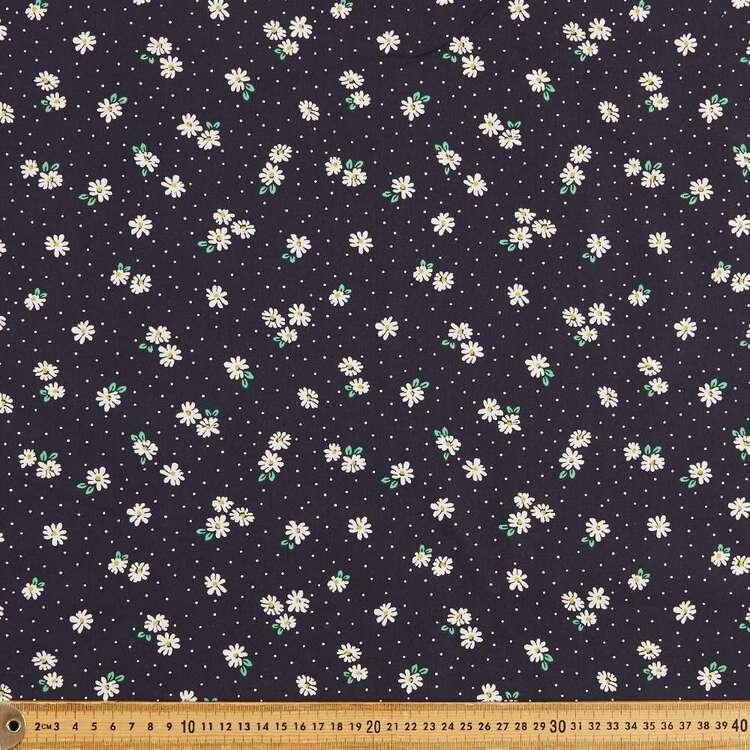 Mix N Match TC Daisy & Spots Printed 112 cm Poly Cotton Fabric