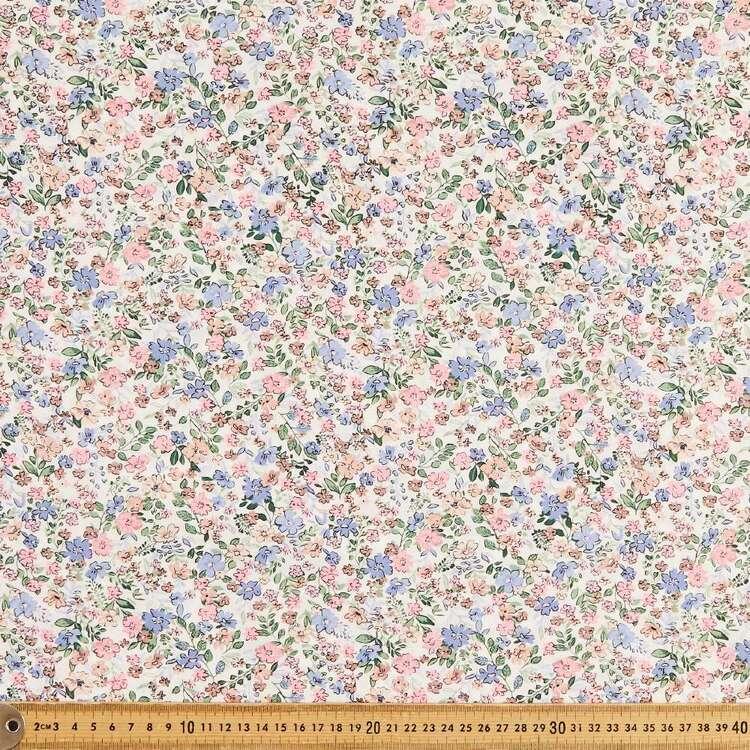 Mix N Match TC Pretty Floral Printed 112 cm Poly Cotton Poplin Fabric