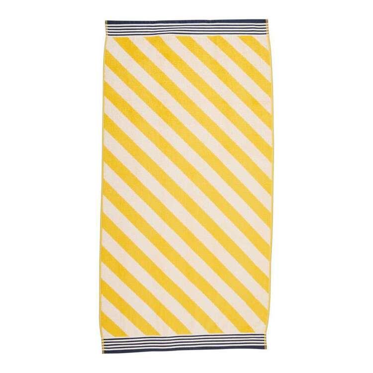Emerald Hill Diagonal Stripe Beach Towel