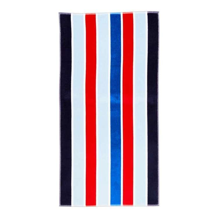 KOO Nautical Stripe Beach Towel