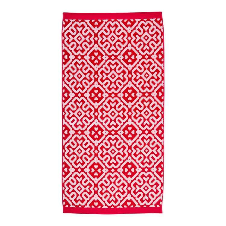 KOO Moroccan Pink Beach Towel