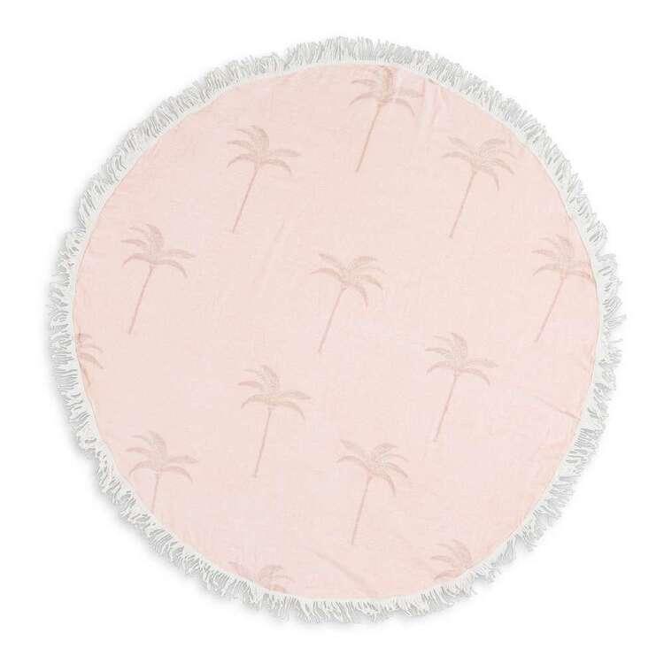 KOO Palms Round Beach Towel