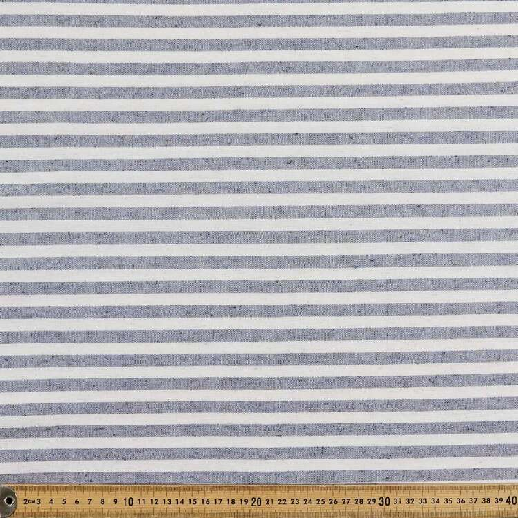 Small Stripe Printed 145 cm Polyester Linen Summer Suiting Fabric