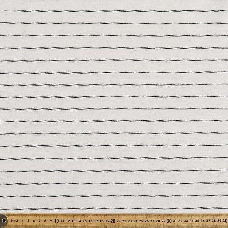 Thin Black Stripe Printed 145 cm Summer Suiting Fabric