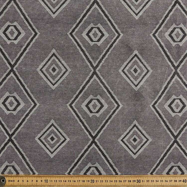 Diagonal Stripe & Diamond Printed 145 cm Summer Suiting Fabric
