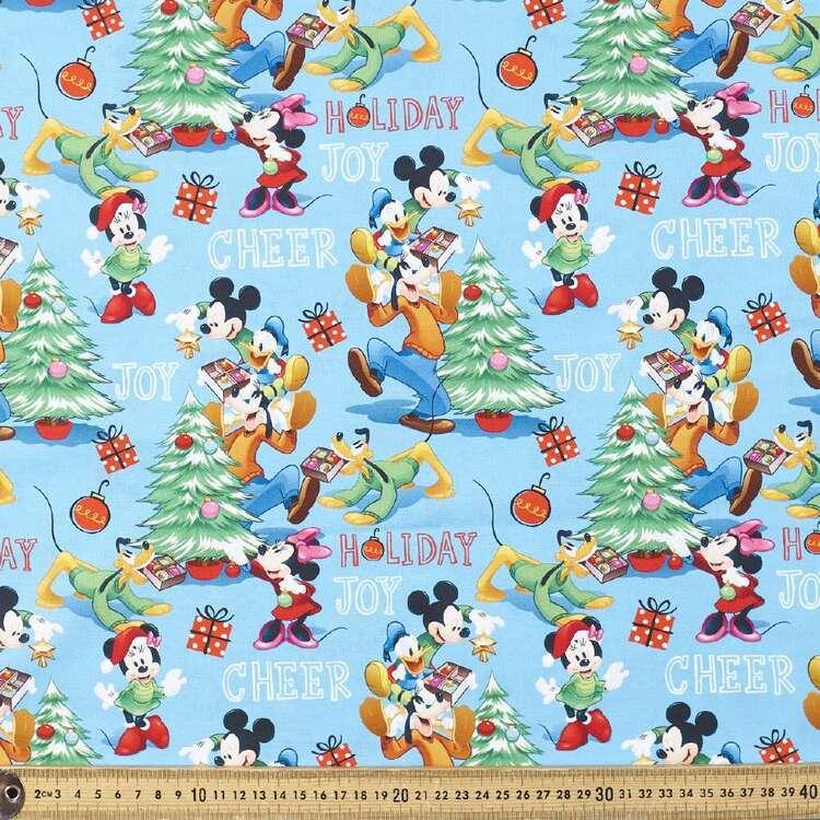 Disney Mickey Mouse Holiday Joy Cotton Fabric