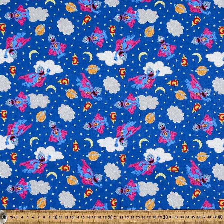 Sesame Street Super Grover Cotton Fabric