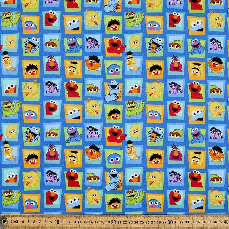 Sesame Street Windows Cotton Fabric