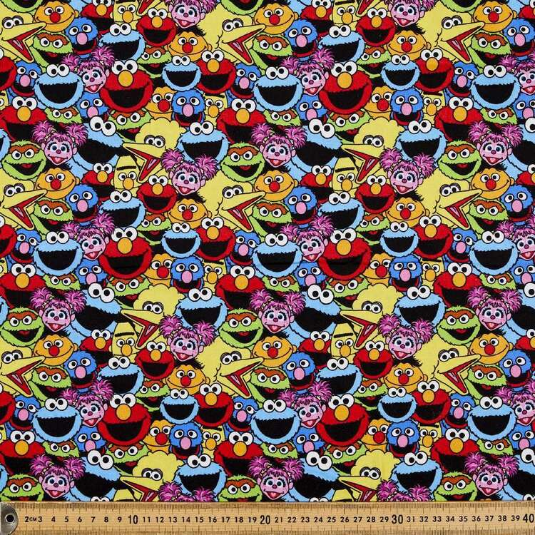 Sesame Street All Over Cotton Fabric