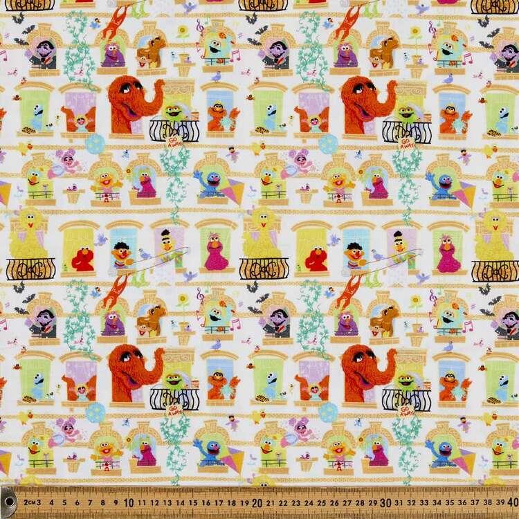 Sesame Street Neighbours Cotton Fabric