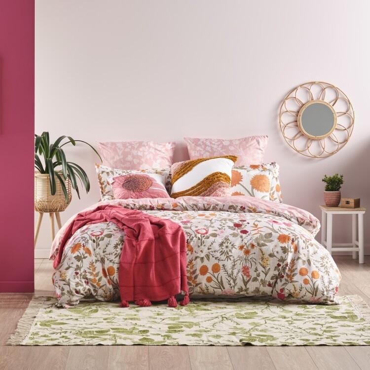 Ombre Home Golden Hour Botanical Quilt Cover Set
